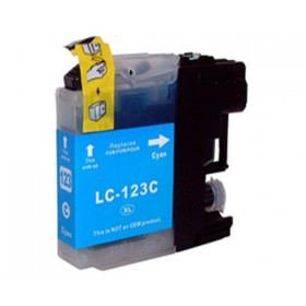 Brother LC123C LC121C cyan kompatibel blæk 10ml